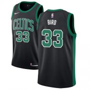 Wholesale Cheap Celtics #33 Larry Bird Black Basketball Swingman Statement Edition Jersey