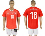 Wholesale Cheap Switzerland #18 Mehmedi Red Home Soccer Country Jersey