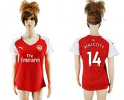 Wholesale Cheap Women's Arsenal #14 Walcott Home Soccer Club Jersey