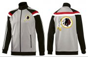 Wholesale Cheap NFL Washington Redskins Team Logo Jacket Grey