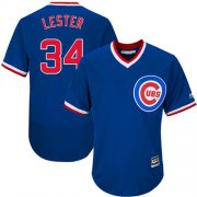 Wholesale Cheap Cubs #34 Jon Lester Blue Flexbase Authentic Collection Cooperstown Stitched MLB Jersey