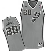 Wholesale Cheap San Antonio Spurs #20 Manu Ginobili Gray Swingman Jersey