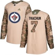 Wholesale Cheap Adidas Jets #7 Keith Tkachuk Camo Authentic 2017 Veterans Day Stitched NHL Jersey