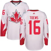 Wholesale Cheap Team CA. #16 Jonathan Toews White 2016 World Cup Stitched NHL Jersey