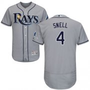 Wholesale Cheap Rays #4 Blake Snell Grey Flexbase Authentic Collection Stitched MLB Jersey