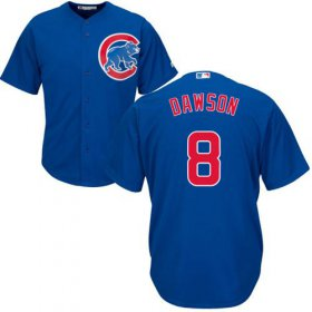 Wholesale Cheap Cubs #8 Andre Dawson Blue Alternate Stitched Youth MLB Jersey