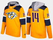 Wholesale Cheap Predators #14 Mattias Ekholm Yellow Name And Number Hoodie