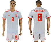 Wholesale Cheap Spain #8 Saul Niguez Away Soccer Country Jersey