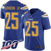 Wholesale Cheap Nike Chargers #25 Melvin Gordon III Electric Blue Men's Stitched NFL Limited Rush 100th Season Jersey