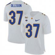 Wholesale Cheap Pittsburgh Panthers 37 Qadree Ollison White 150th Anniversary Patch Nike College Football Jersey