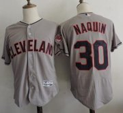 Wholesale Cheap Indians #30 Tyler Naquin Grey Flexbase Authentic Collection Stitched MLB Jersey