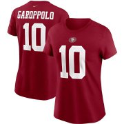 Wholesale Cheap San Francisco 49ers #10 Jimmy Garoppolo Nike Women's Team Player Name & Number T-Shirt Scarlet