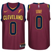Wholesale Cheap Nike NBA Cleveland Cavaliers #0 Kevin Love Jersey 2017-18 New Season Wine Red Jersey