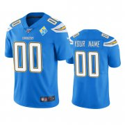 Wholesale Cheap Los Angeles Chargers Custom Light Blue 60th Anniversary Vapor Limited NFL Jersey