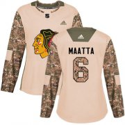 Wholesale Cheap Adidas Blackhawks #6 Olli Maatta Camo Authentic 2017 Veterans Day Women's Stitched NHL Jersey