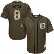 Wholesale Cheap Tigers #8 Justin Upton Green Salute to Service Stitched Youth MLB Jersey