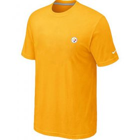 Wholesale Cheap Nike Pittsburgh Steelers Chest Embroidered Logo T-Shirt Yellow