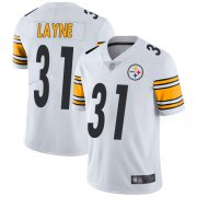 Wholesale Cheap Nike Steelers #31 Justin Layne White Men's Stitched NFL Vapor Untouchable Limited Jersey