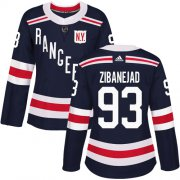 Wholesale Cheap Adidas Rangers #93 Mika Zibanejad Navy Blue Authentic 2018 Winter Classic Women's Stitched NHL Jersey