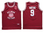 Wholesale Cheap Hillman College Theater Dwayne Wayne Red Stitched Movie Jersey