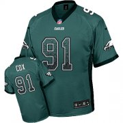 Wholesale Cheap Nike Eagles #91 Fletcher Cox Midnight Green Team Color Men's Stitched NFL Elite Drift Fashion Jersey