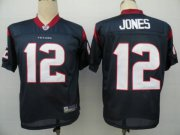 Wholesale Cheap Texans #12 Jacoby Jones Blue Stitched NFL Jersey