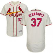 Wholesale Cheap Cardinals #37 Keith Hernandez Cream Flexbase Authentic Collection Stitched MLB Jersey