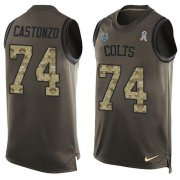 Wholesale Cheap Nike Colts #74 Anthony Castonzo Green Men's Stitched NFL Limited Salute To Service Tank Top Jersey