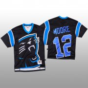 Wholesale Cheap NFL Carolina Panthers #12 DJ Moore Black Men's Mitchell & Nell Big Face Fashion Limited NFL Jersey