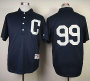 Wholesale Cheap Indians #99 Ricky Vaughn Navy Blue 1902 Turn Back The Clock Stitched MLB Jersey