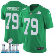 Wholesale Cheap Nike Eagles #79 Brandon Brooks Green Super Bowl LII Men's Stitched NFL Limited Rush Jersey