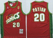 Wholesale Cheap Men's Seattle Supersonics #20 Gary Payton 1997-98 Red Hardwood Classics Soul Swingman Throwback Jersey