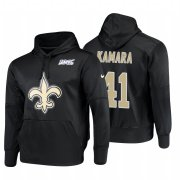 Wholesale Cheap New Orleans Saints #41 Alvin Kamara Nike NFL 100 Primary Logo Circuit Name & Number Pullover Hoodie Black