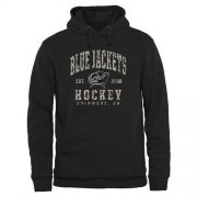 Wholesale Cheap Men's Columbus Blue Jackets Black Camo Stack Pullover Hoodie