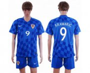 Wholesale Cheap Croatia #9 Kramaric Away Soccer Country Jersey