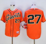 Wholesale Cheap Giants #27 Juan Marichal Orange Cool Base Stitched MLB Jersey