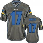 Wholesale Cheap Nike Chargers #17 Philip Rivers Grey Men's Stitched NFL Elite Vapor Jersey