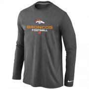 Wholesale Cheap Nike Denver Broncos Critical Victory Long Sleeve T-Shirt Dark Grey