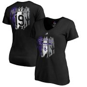 Wholesale Cheap Colorado Rockies #19 Charlie Blackmon Majestic Women's 2019 Spring Training Name & Number V-Neck T-Shirt Black