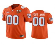 Wholesale Cheap Men's Clemson Tigers Custom Orange 2020 National Championship Game Jersey