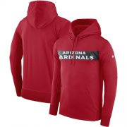 Wholesale Cheap Men's Arizona Cardinals Nike Cardinal Sideline Team Performance Pullover Hoodie