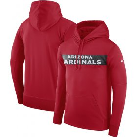 Wholesale Cheap Men\'s Arizona Cardinals Nike Cardinal Sideline Team Performance Pullover Hoodie