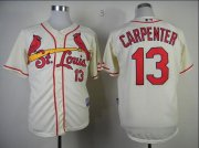 Wholesale Cheap Cardinals #13 Matt Carpenter Cream Cool Base Stitched MLB Jersey