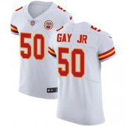 Wholesale Cheap Nike Chiefs #50 Willie Gay Jr. White Men's Stitched NFL New Elite Jersey