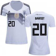 Wholesale Cheap Women's Germany #20 Brandt White Home Soccer Country Jersey