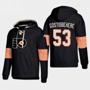 Wholesale Cheap Philadelphia Flyers #53 Shayne Gostisbehere Black adidas Lace-Up Pullover Hoodie