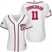 Wholesale Cheap Nationals #11 Ryan Zimmerman White Home 2019 World Series Champions Women's Stitched MLB Jersey