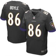Wholesale Cheap Nike Ravens #86 Nick Boyle Black Alternate Men's Stitched NFL New Elite Jersey