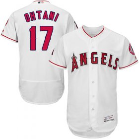 Wholesale Cheap Angels of Anaheim #17 Shohei Ohtani White Flexbase Authentic Collection Stitched MLB Jersey