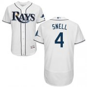 Wholesale Cheap Rays #4 Blake Snell White Flexbase Authentic Collection Stitched MLB Jersey